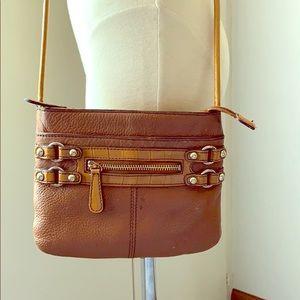 ETIENNE AIGNER Small Nutmeg Brown Crossbody Bag